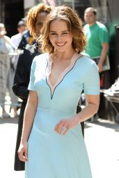 Emilia Clarke at Good Morning America in New York City 5/23/2016