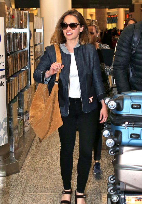 Emilia Clarke at Pearson International Airport in Toronto 5/17/2016