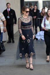 Emilia Clarke Fashion Style - at BBC Radio 1 in London 5/26/2016