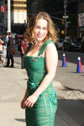 Emilia Clarke Style - Arrives at the Ed Sullivan Theater in New York City 5/23/2016