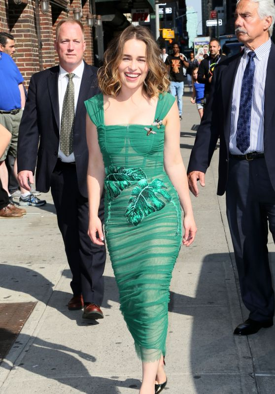 Emilia Clarke Style - Arrives at the Ed Sullivan Theater in New York City 5/23/2016