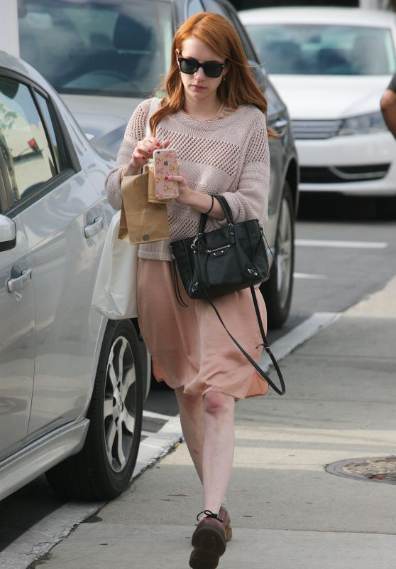 Emma Roberts Casual Style - Out in West Hollywood 5/14/2016