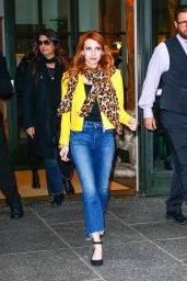 Emma Roberts Cute Outfit Ideas - Leaving Her Hotel in the NYC 4/29/2016