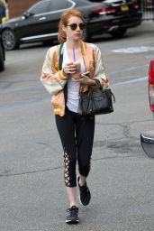 Emma Roberts in Leggings - Out in West Hollywood 5/11/2016