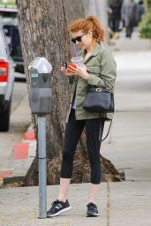 Emma Roberts in Leggings - Shopping in Beverly Hills 5/9/2016