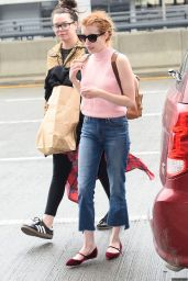 Emma Roberts Travel Outfit - JFK Airport in New York City 5/3/2016