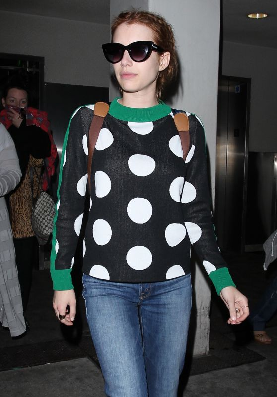 Emma Roberts Travel Outfit - LAX Airport in Los Angeles 5/3/2016