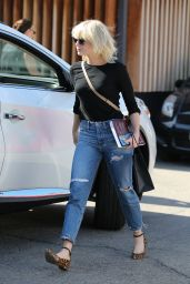 Emma Stone Is Now a Platinum Blonde - at Meche Salon in Beverly Hills 5/21/2016