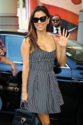 Eva Longoria Summer Outfit Ideas - Arrives at Martinez Hotel Ahead of the 69th Annual Cannes Film Festival 5/10/2016