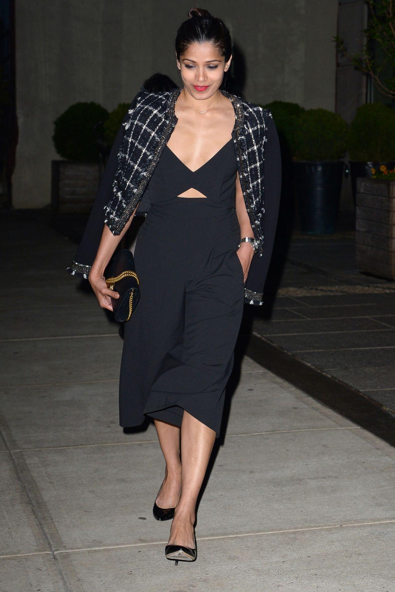Freida Pinto Looking Elegant - Out in Manhattan 4/30/2016 Freida Pinto