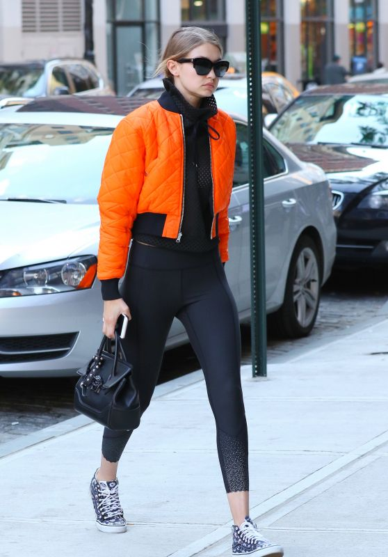 Gigi Hadid Spring Ideas - Out in NYC 5/8/2016