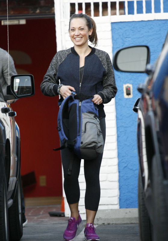 Ginger Zee at Saturday Rehearsal at the DWTS Studio in Hollywood 4/30/2016