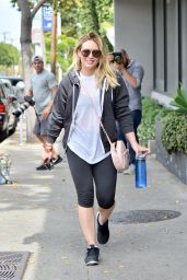 Hilary Duff in Leggings - West Hollywood 5/3/2016