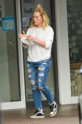 Hilary Duff in Ripped Jeans - Out in Beverly Hills 5/15/2016