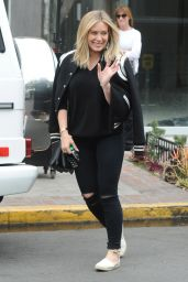 Hilary Duff - Leaving Nine Zero One Salon in Melrose Place 5/10/2016