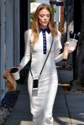 Jaime King Wows in White - After Grabbing Lunch on Melrose in Los Angeles 5/16/2016