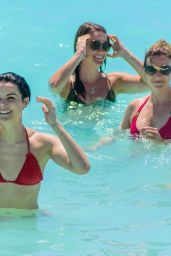 Jaimie Alexander in a Red Bikini - at the Pool in Cancun, May 2016