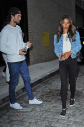 Jasmine Tookes and Tobias Sorensen at Spring Studios in New York 5/24/2016
