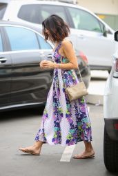 Jenna Dewan in Long Summer Dress - Visit Epione in Beverly Hills 5/19/2016