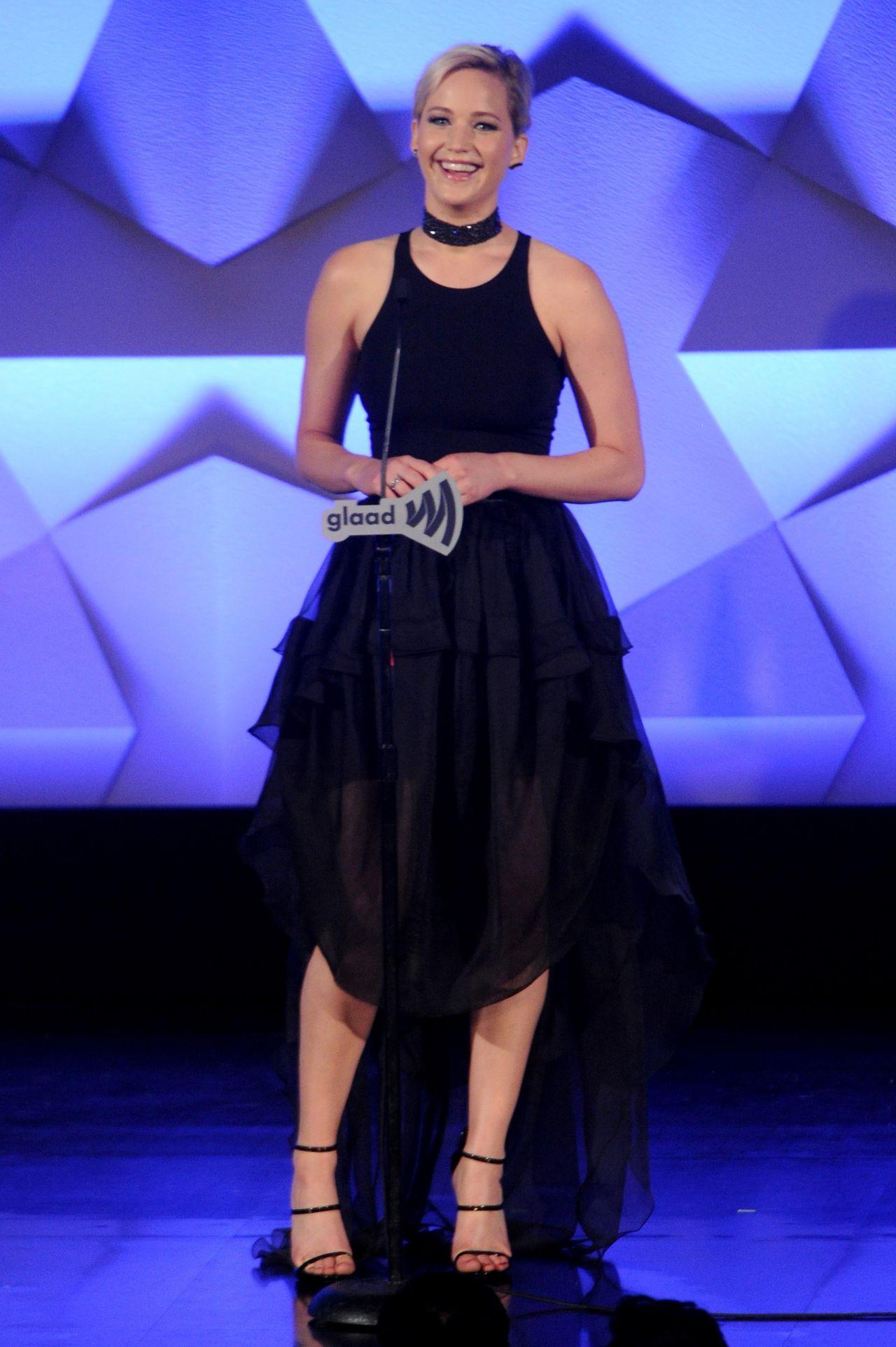 Jennifer Lawrence 2016 GLAAD Media Awards In NEw York City