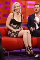 Jennifer Lawrence Appeared on Graham Norton Showin in London, May 2016