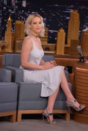 Jennifer Lawrence Appeared on Tonight Show With Jimmy Fallon in NY 5/23/2016