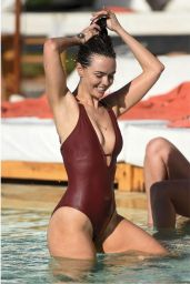 Jennifer Metcalfe in Red Swimsuit - Marrakesh 5/3/2016