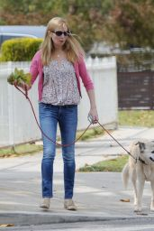 Jennifer Westfeldt - Walking Her Dog in Los Angeles 5/24/2016