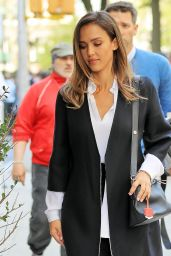Jessica Alba Chic Outfit - New York City 5/11/2016