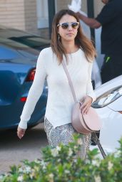 Jessica Alba Leaving Barney