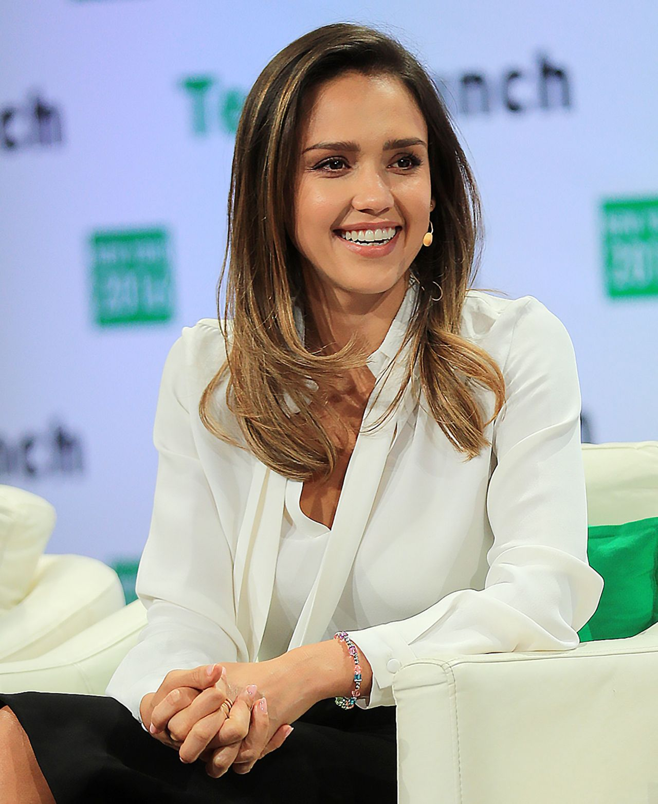 Jessica Alba – TechCrunch Disrupt Conference in Brooklyn 5/11/2016