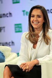 Jessica Alba - TechCrunch Disrupt Conference in Brooklyn 5/11/2016