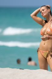 Joanna Krupa Hot in Bikini - Beach in Miami, May 2016