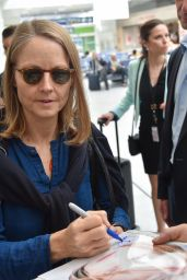 Jodie Foster at Nice Airport in France 5/11/2016