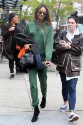 Jourdan Dunn - Steps Out in New York City in a Tracksuit and Heels 5/2/2016