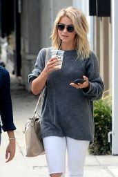 Julianne Hough Street Style - Picking Up Iced Drinks on Melrose Place in West Hollywood 5/19/2016