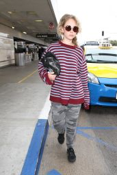 Juno Temple at LAX Airport in Los Angeles 5/3/2016