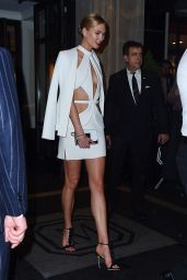 Karlie Kloss - Cuts Up Her Met Gala Dress Into a Mini Dress in New York 5/2/2016