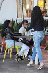 Karruche Tran and Christina Milian - Enjoy Lunch at Fred Segal in Los angeles 5/24/2016