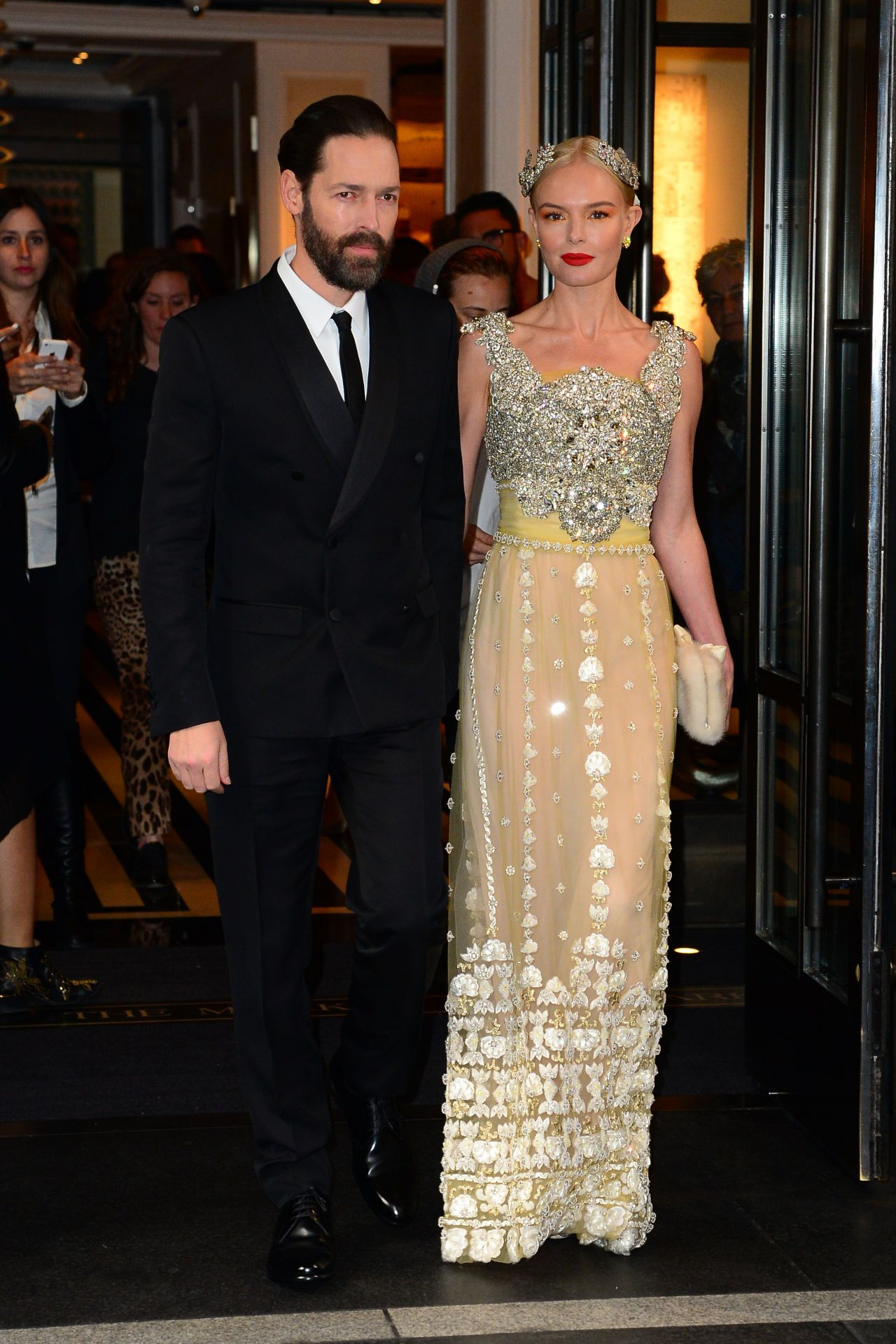 Kate Bosworth   Leaves the Mark Hotel to Walk the Red Carpet at the 2016  Met Gala in New York. Bosworth   Leaves the Mark Hotel to Walk the Red Carpet at the