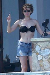 Kate Mara in a Bikini at a Pool in Cabo, Mexico 5/18/2016