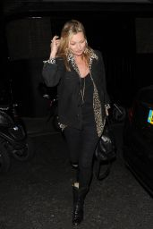 Kate Moss Night Out - at The Chiltern Firehouse in London 5/5/2016