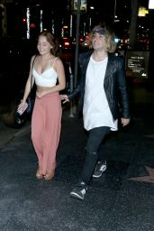 Kelli Berglund Night Out Style - Leaving Katsuya Restaurant in Los Angeles 5/3/2016
