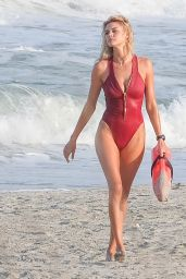 Kelly Rohrbach in Red Swimsuit -