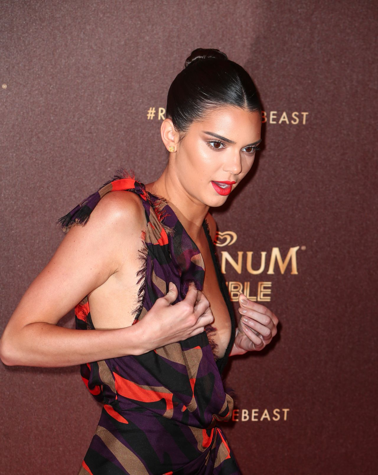 Kendall Jenner Magnum Double Party At Beach