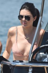 Kendall Jenner on a Yacht & Jet Skiing in Cannes 5/15/2016