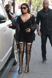 Kim Kardashian Classy Fashion - Lunches at Katsuya Hollywood in Los Angeles, May 2016