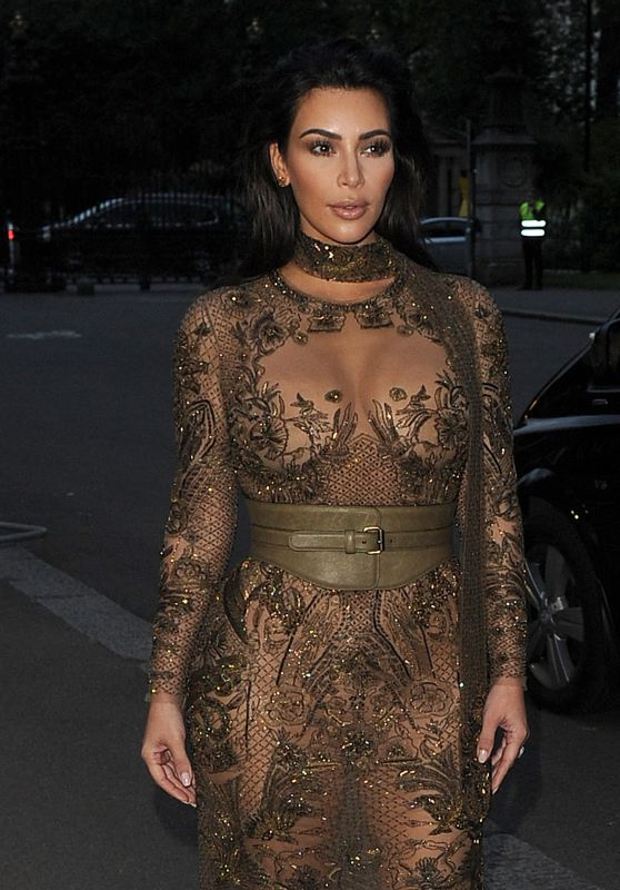 Kim Kardashian - Vogue '100th Anniversary Gala Dinner in London 5/23/2016