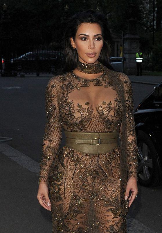 Kim Kardashian - Vogue '100th Anniversary Gala Dinner in London 5/23/2016