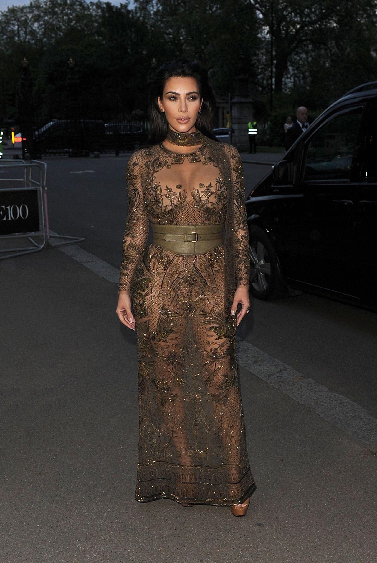 Kim Kardashian Leaves Little to the Imagination in Sheer